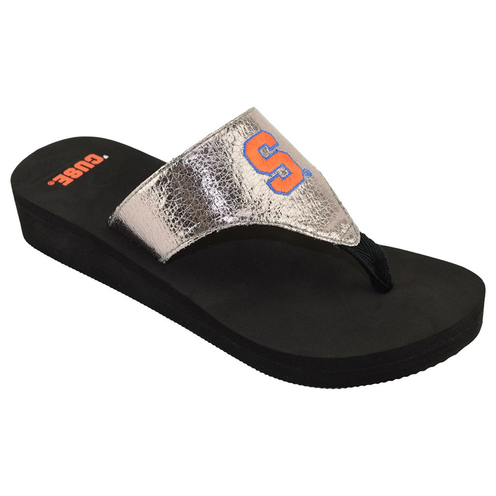 Women's Syracuse Orange Shine Platform Flip-Flops