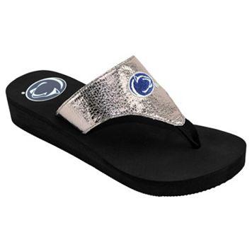 Women's Penn State Nittany Lions Shine Platform Flip-Flops