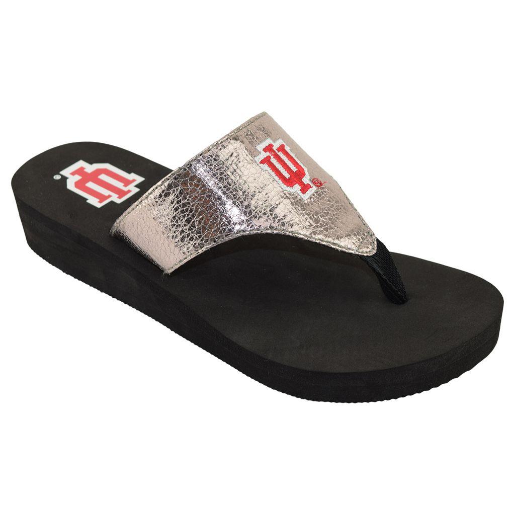 Women's Indiana Hoosiers Shine Platform Flip-Flops
