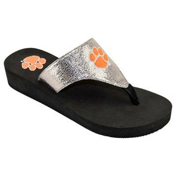 Women's Clemson Tigers Shine Platform Flip-Flops
