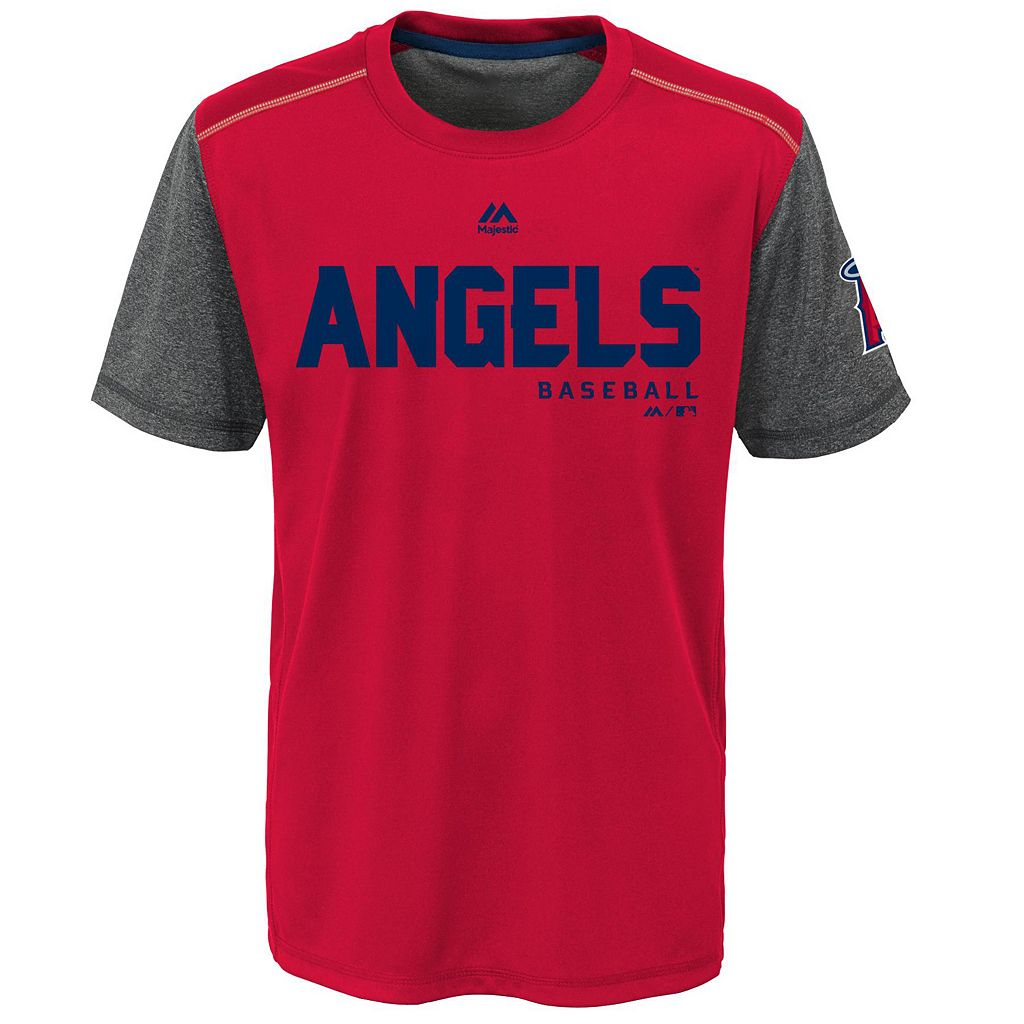 Boys 8-20 Majestic Los Angeles Angels of Anaheim Club Series Cool Base Tee