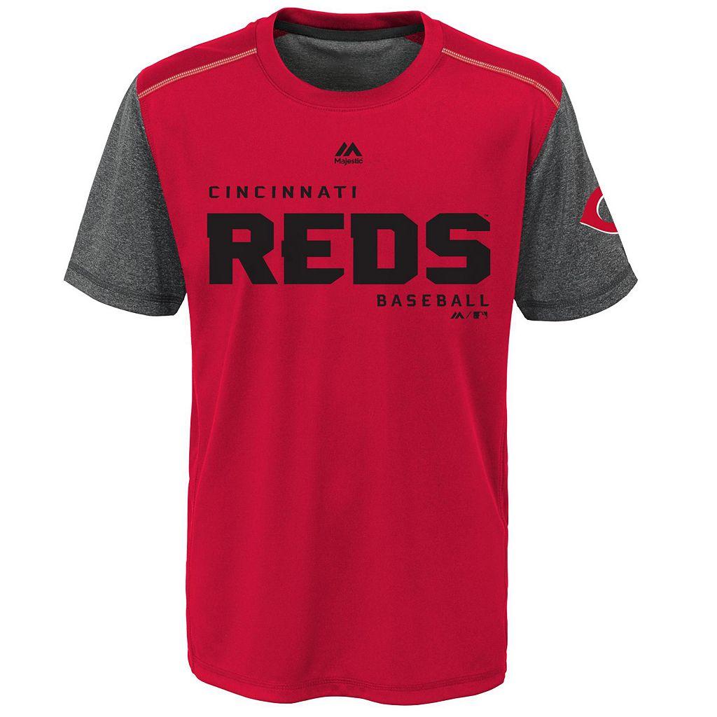 Boys 8-20 Majestic Cincinnati Reds Club Series Cool Base Tee