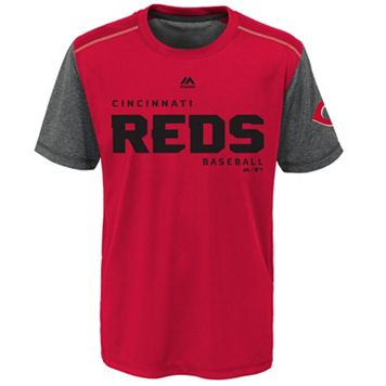Boys 8-20 Majestic Cincinnati Reds Club Series Cool Base Tee