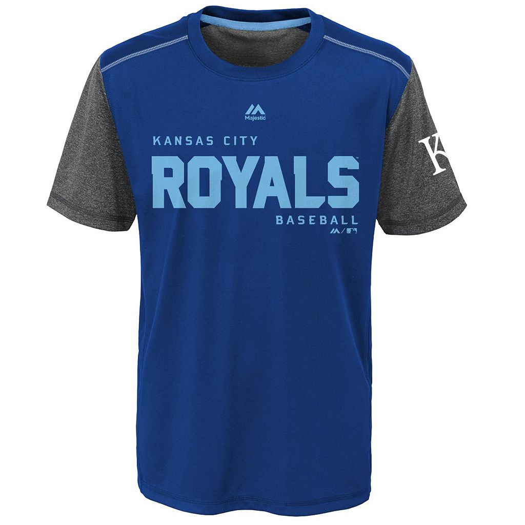 Boys 8-20 Majestic Kansas City Royals Club Series Cool Base Tee