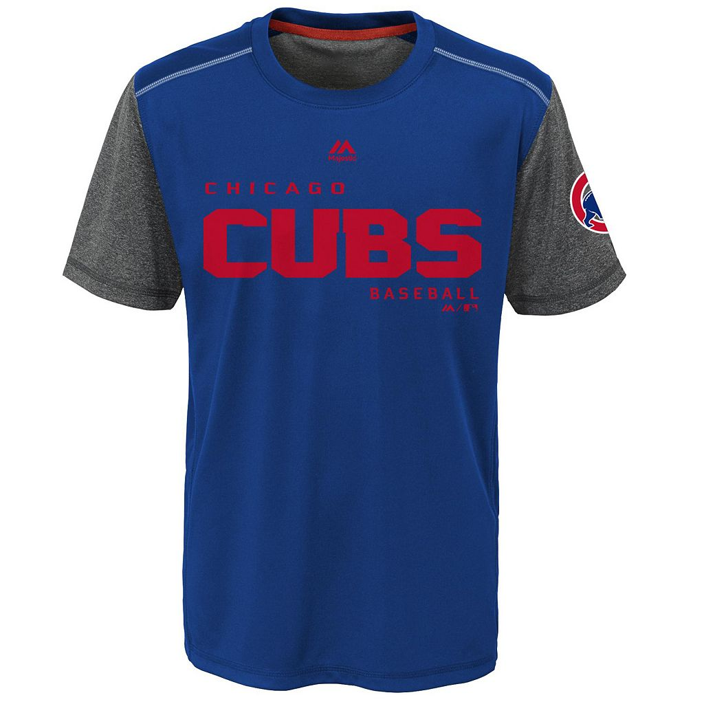 Boys 8-20 Majestic Chicago Cubs Club Series Cool Base Tee