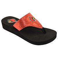 Women's Louisville Cardinals Shine Platform Flip-Flops