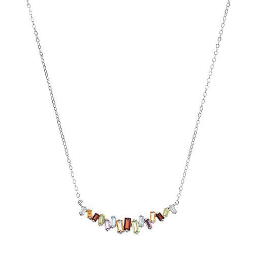 Adora Sterling Silver Gemstone Necklace