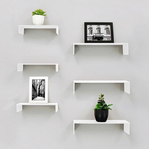 Kiera Grace Wall Shelf 6-piece Set
