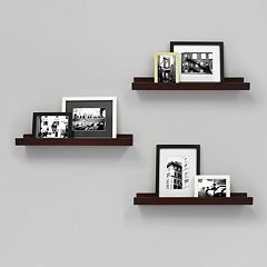 Kiera Grace Edge Wall Ledge Shelf 3 pc Set