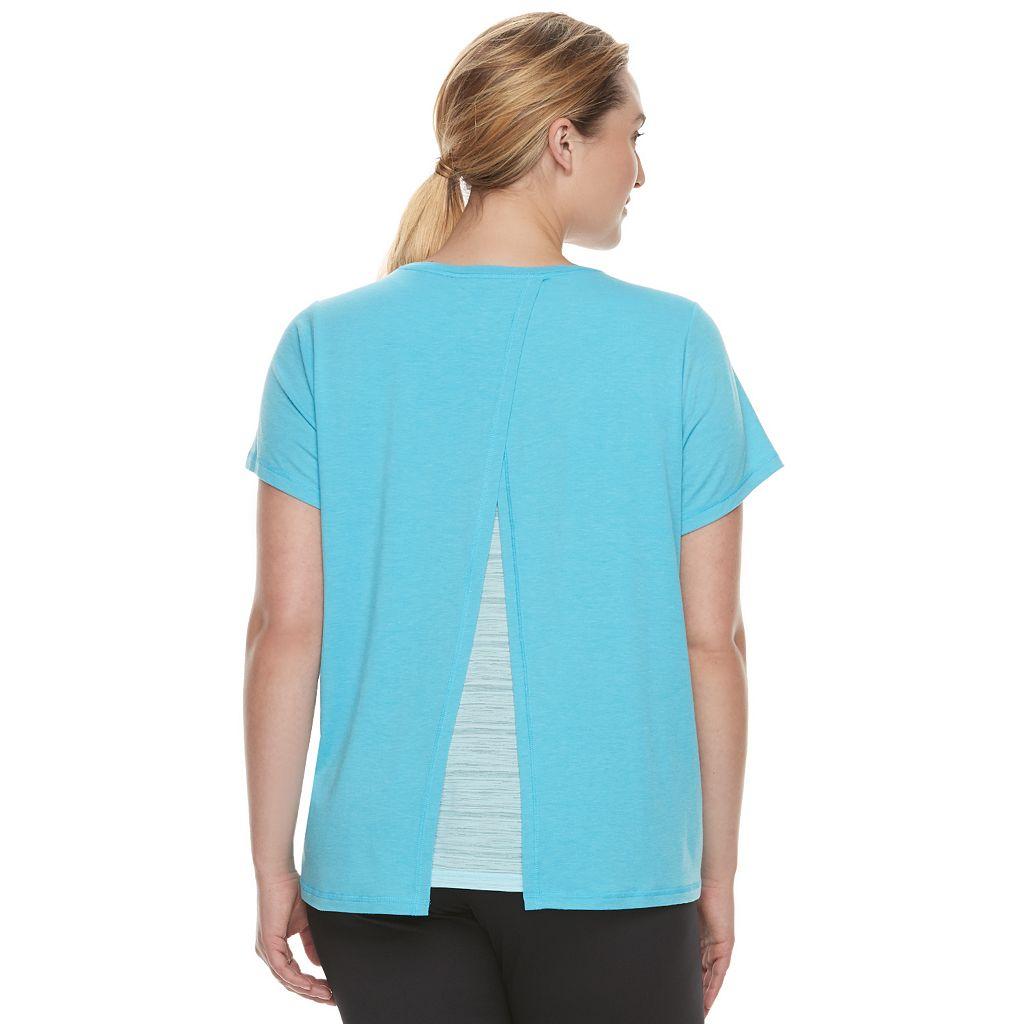 Plus Size Tek Gear® Layered Split-Back Tee