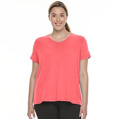Plus Size Tek Gear® Layered Split-Back Tee