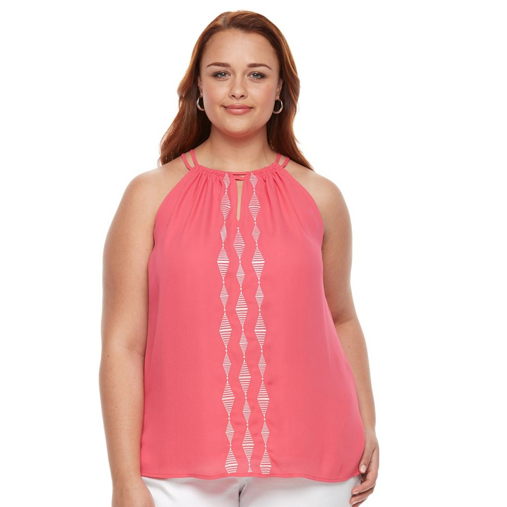Plus Size Apt. 9® Embroidered Tank Top