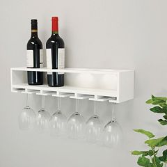 Kiera Grace Claret Wine Bottle Glass Rack Wall Shelf