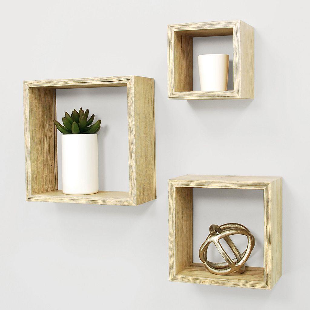 Kiera Grace Cubbi Nesting Wall Shelf 3-piece Set