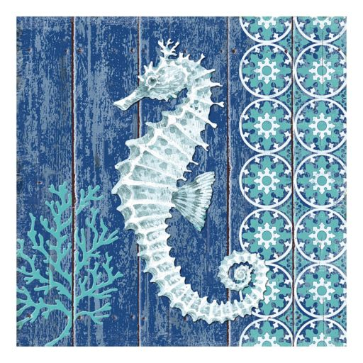 Indigo Sea VI Canvas Wall Art
