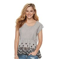 Women's SONOMA Goods for Life™ Eyelet Peplum Tee