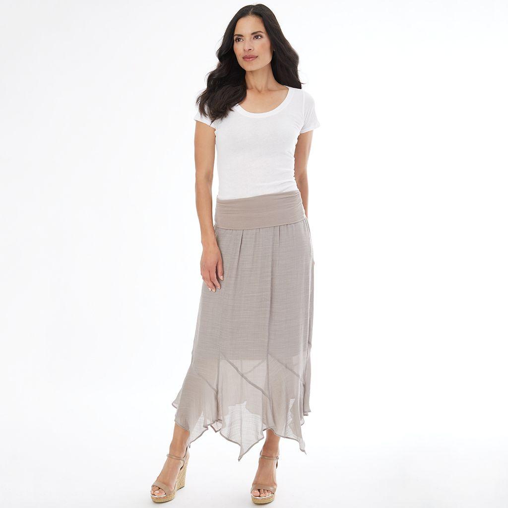 Women's Apt. 9® Gauze Handkerchief Maxi Skirt