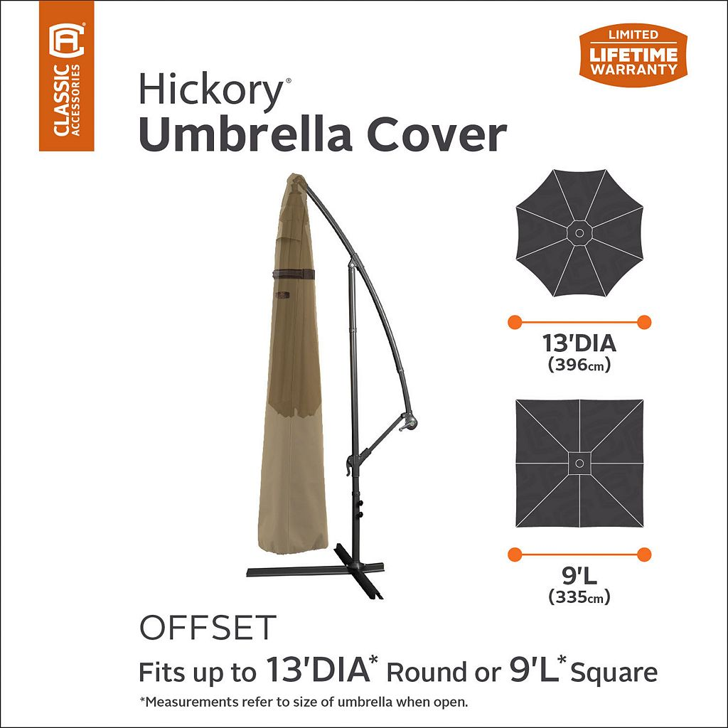 Hickory Round Offset Patio Umbrella Cover
