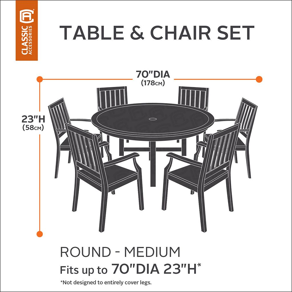 Belltown Medium Round Patio Table & Chairs Cover