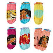 Disney's Elena of Avalor Girls 4-16 6 pkNo-Show Socks