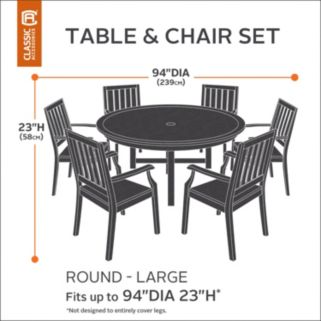 Belltown Large Round Patio Table & Chairs Cover