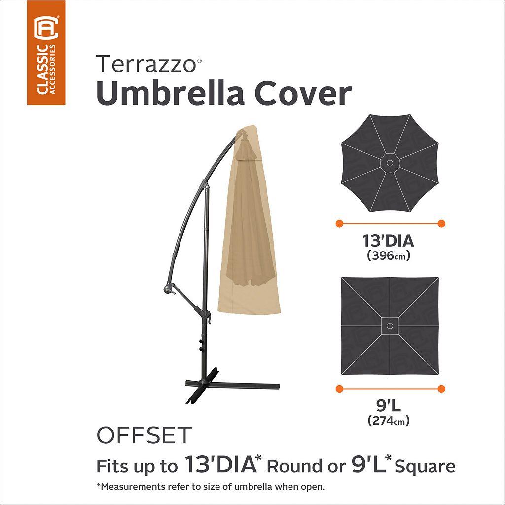 Terrazzo Round Offset Patio Umbrella Cover