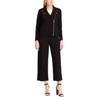 Women's Chaps Crop Wide-Leg Ponte Pants