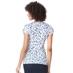 Women's Chaps Floral V-Neck Top