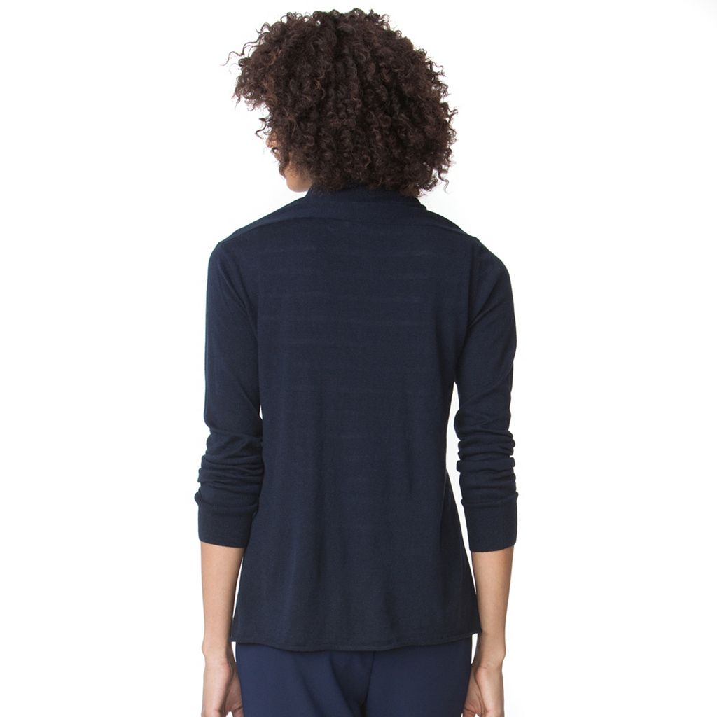 Women's Chaps Solid Open-Front Cardigan