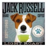 """""""Jack Russell Coffee"""" Canvas Wall Art"""