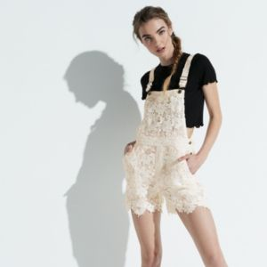 k/lab Crochet Lace Overalls