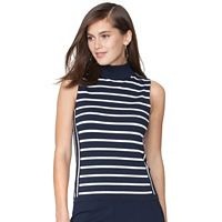 Women's Chaps Striped Sleeveless Sweater