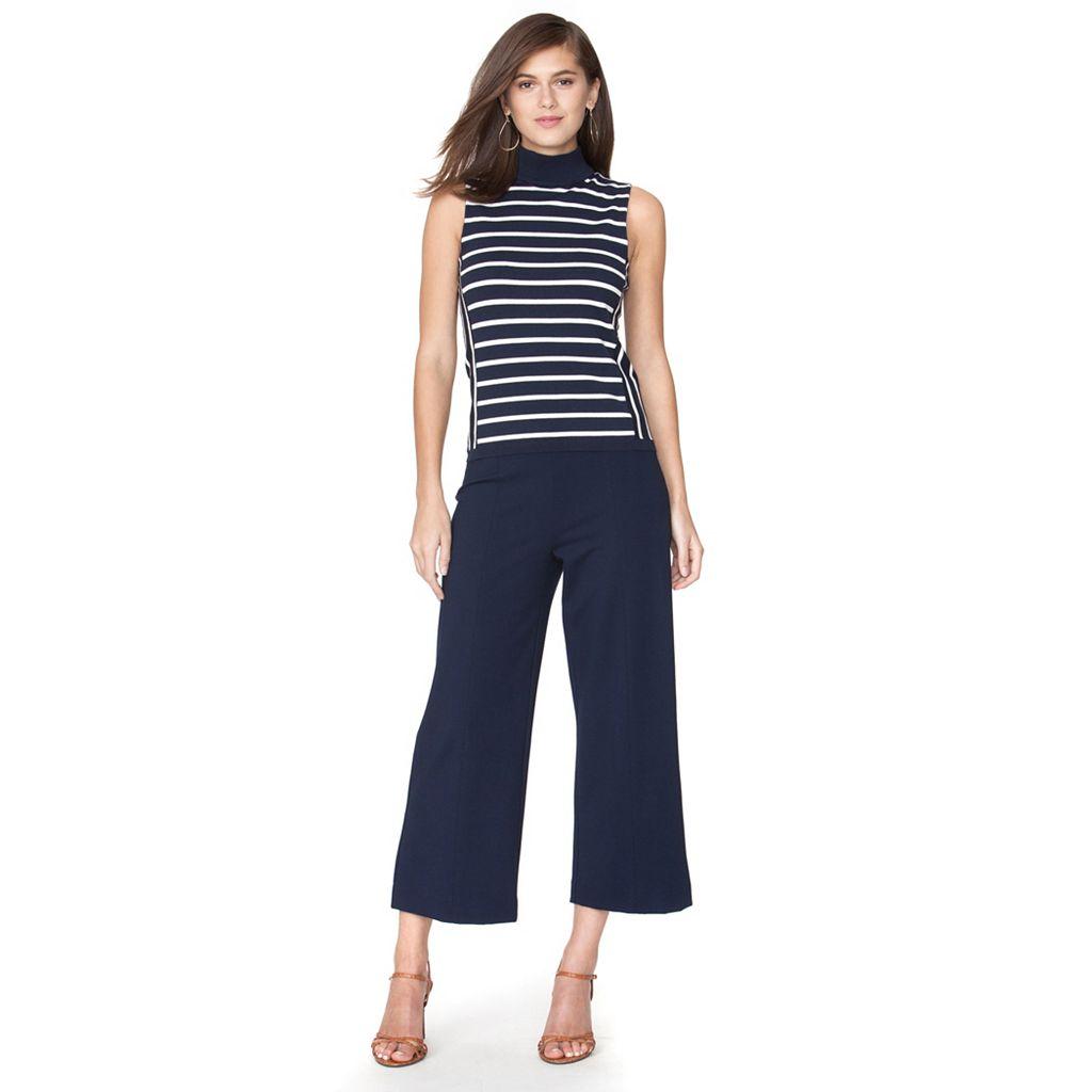 Women's Chaps Striped Sleeveless Sweater