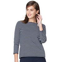 Women's Chaps Striped Boatneck Tee