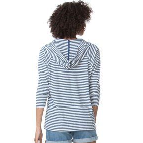 Women's Chaps Striped Waffle-Knit Hoodie