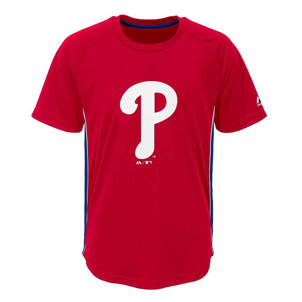 Boys 8-20 Majestic Philadelphia Phillies Champ Tee