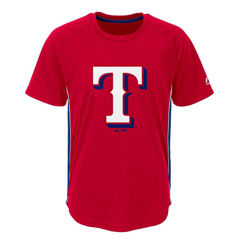 Boys 8-20 Majestic Texas Rangers Champ Tee