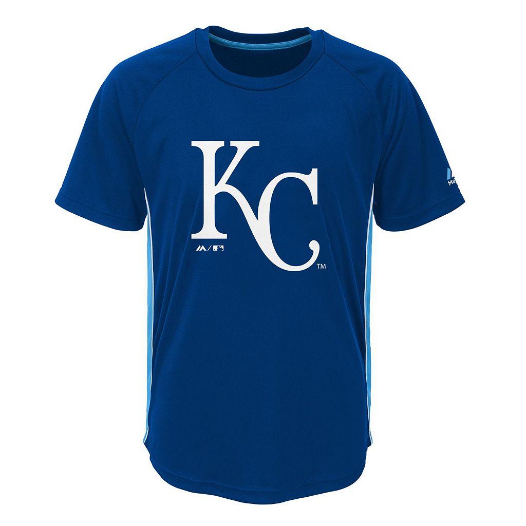 Boys 8-20 Majestic Kansas City Royals Champ Tee