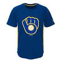 Boys 8-20 Majestic Milwaukee Brewers Champ Tee