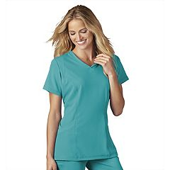 Plus Size Jockey Scrubs Modern Mesh V-Neck Top