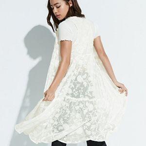 k/lab Sheer Lace Long Vest
