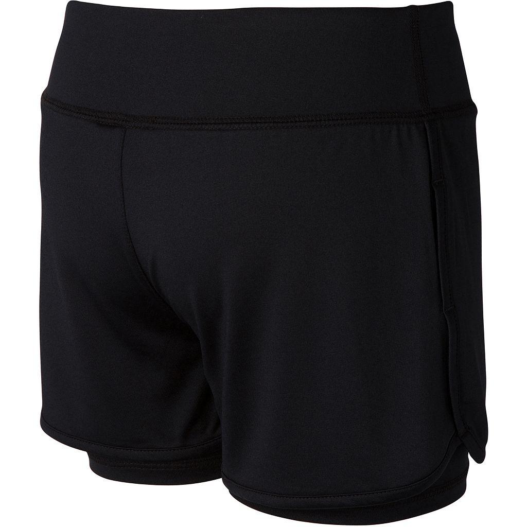 Girls 7-16 New Balance Layered Performance Bike Shorts
