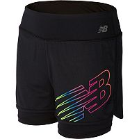 Girls 7-16 New Balance Layered Performance Bike Shorts