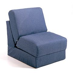 Fun Furnishings Blue Denim Sleeper Chair - Teen