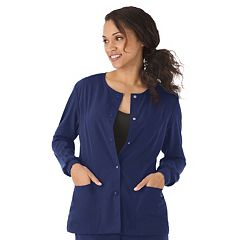 Plus Size Jockey Scrubs Classic  Long Sleeve Jacket