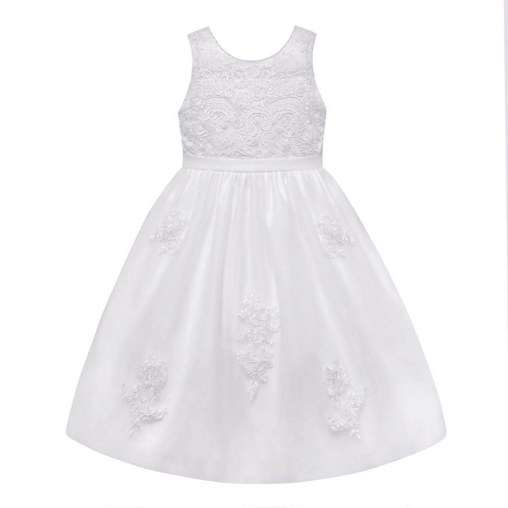 Girls 7-12 American Princess Beaded & Embroidered Communion Dress