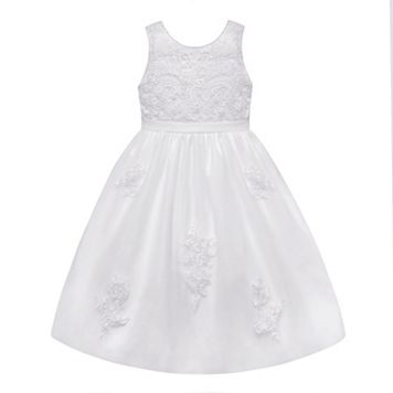 Girls 7-12 American Princess Beaded & Embroidered Communion Dress