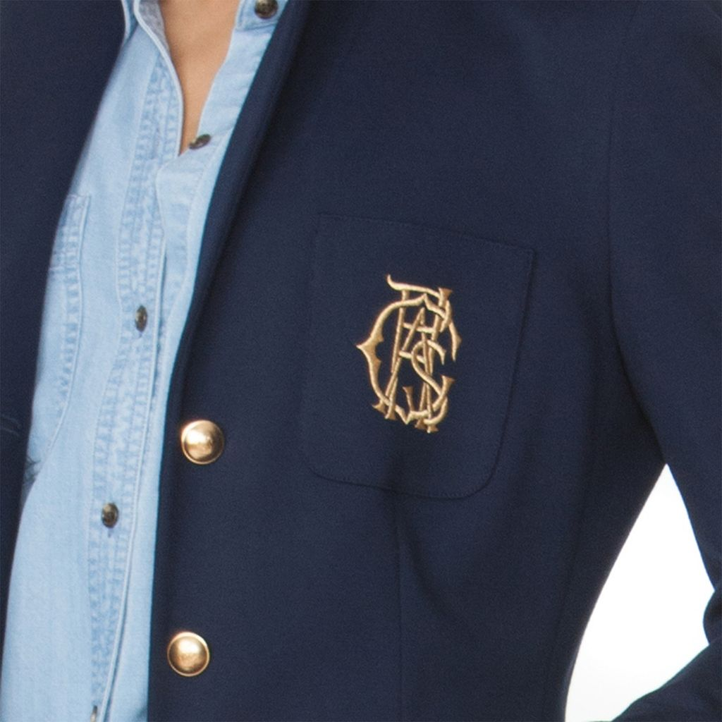 Women's Chaps Crest Button-Down Blazer