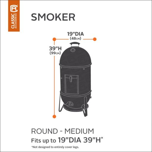 Black Round Smoker Cover