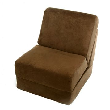 Fun Furnishings Brown Microsuede Sleeper Chair - Teen